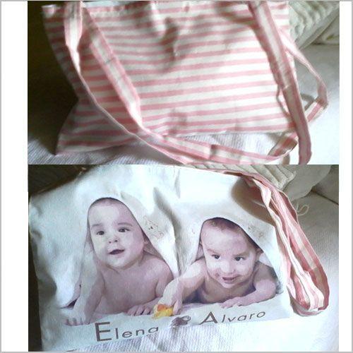 Bolsa bebé con tu retrato personalizado