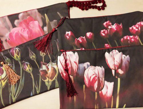 Diseño con flores y pasamaneria